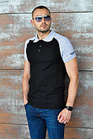 "Мужская футболка-поло ""Black"" р. М, Л, ХЛ"