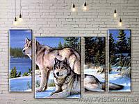 Картина Волки