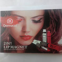 Блеск для губ Dermacol 16 h LIP COLOUR  2in1 lip magnet create exclusive beauty lips 10шт/уп