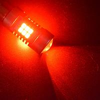 Автолампа LED, P21W, 1156, 22 SMD 3535, 12V, Красная, фото 1