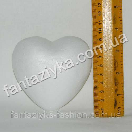 Сердце пенопластовое 9,5см, заготовка для творчества