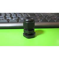 Кабельный ввод сальник PG9 IP68 с контрогайкой черный