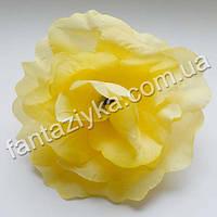 Роза лопата искусственная ванильная 12см