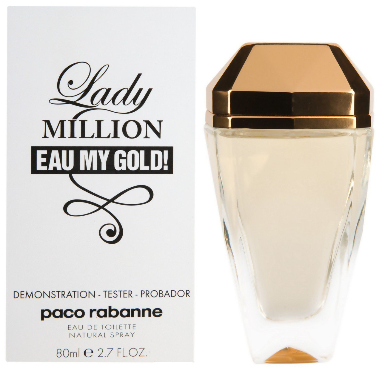 Тестер женский Paco Rabanne Lady Million Eau My Gold, 80 мл