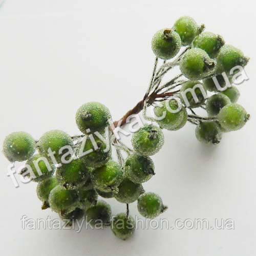 Сахарная калина 12мм оливковая, в пучке 40 ягод