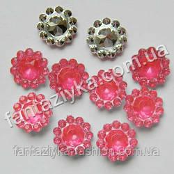 Декоративный камень Цветочек розовый, серединка для бантиков