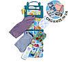 Подвесной органайзер для шкафчика в детский сад (слоники)