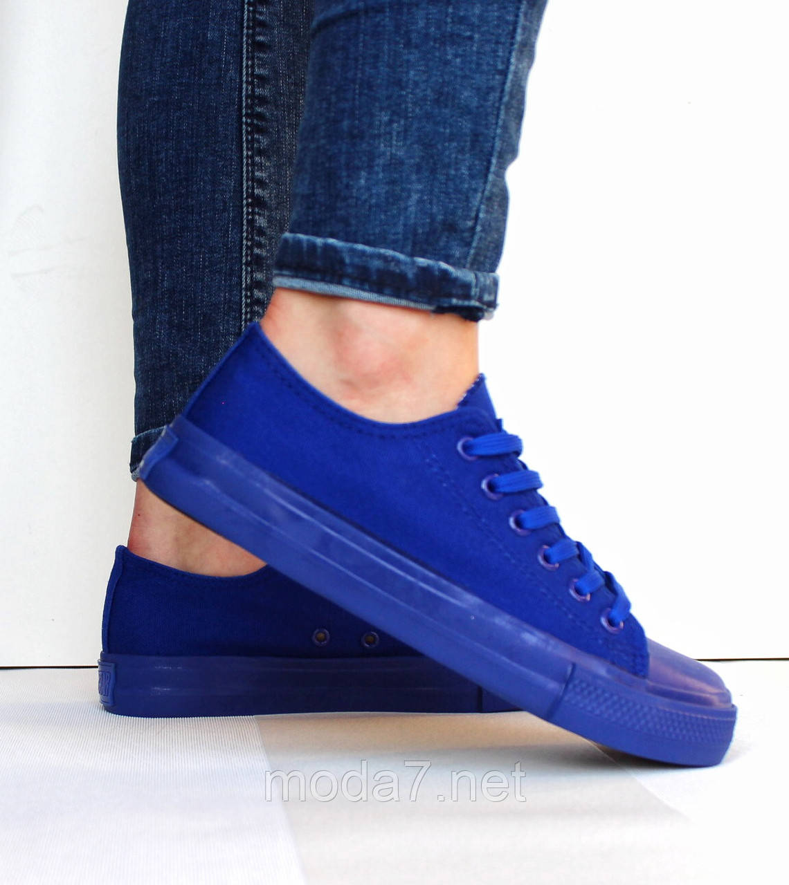 Женские - подростковые кеды Сonverse синие реплика