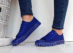Женские - подростковые кеды Сonverse синие реплика, фото 3