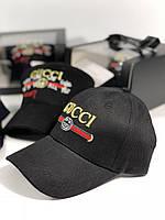 Женская Бейсболка Gucci черная (реплика), фото 1