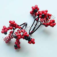 Мелкие декоративные ягодки 7мм, красные