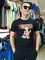 Футболка мужская Louis Vuitton трикотажная , фото 1