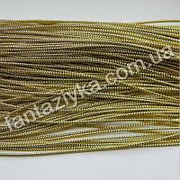 Декоративный блестящий шнур 1,5мм, золотой