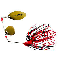 CAPERLAN Buckhan 3/8oz Lure Fishing Spinnerbait - Red/Black