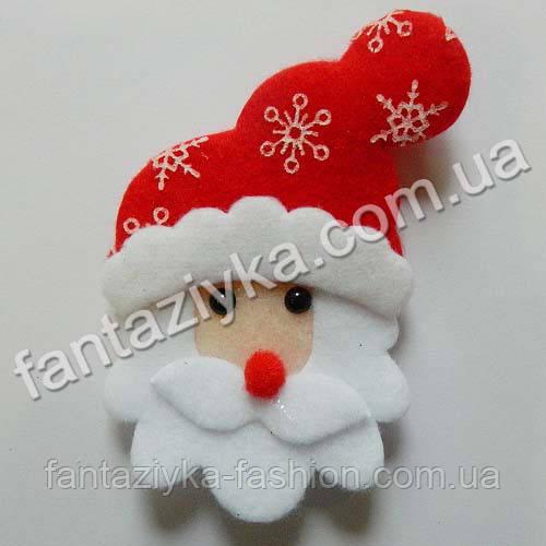 Новогодний декор Дед Мороз из фетра 10см