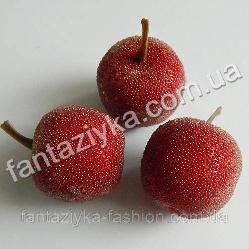 Яблоко сахарное бордовое 35мм