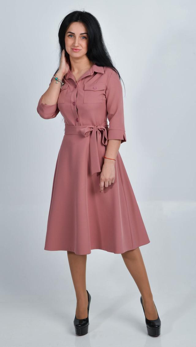 9d7be7a0c38 Стильное женское платье миди с пышным низом Размеры 42