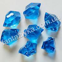 Искусственный лед синий, кристалл декоративный