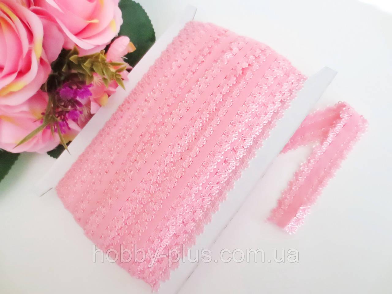 Бейка-резинка ажурная для повязок, светло-розовый, 23 мм