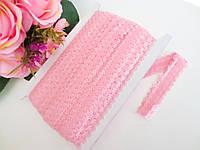 Бейка-резинка ажурная для повязок, светло-розовый, 23 мм, фото 1