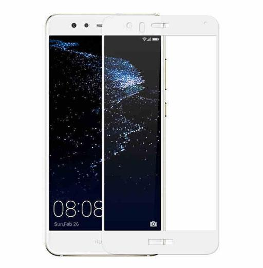Full Cover защитное стекло для Huawei P9 Lite - White