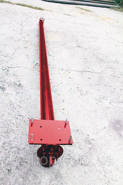 Шнек в сборе в трубе без двигатель Ø 108 мм, 8 м.