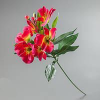 Искусственный цветок альстромерия розовая.