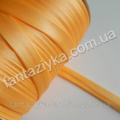 Атласная косая бейка, цвет абрикосовый