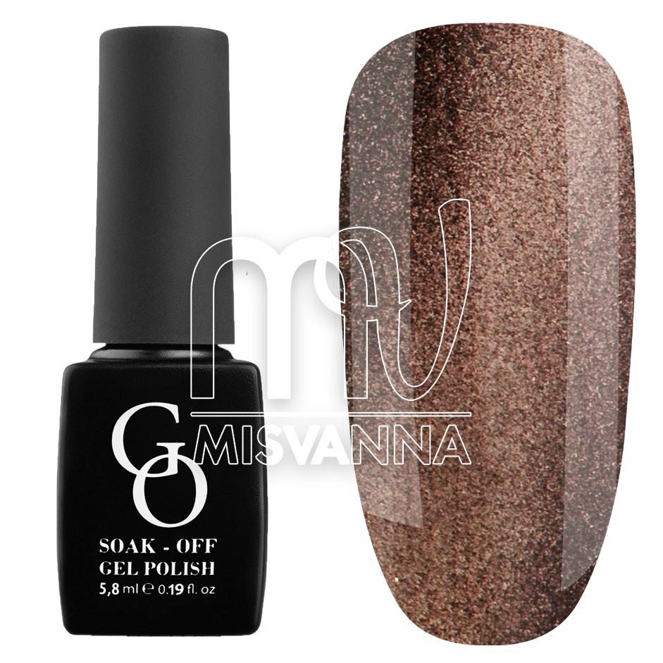 Гель-лак GO 5.8 мл, №53 коричнево-красный с блестками