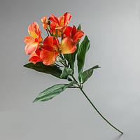 Искусственный цветок оранжевая альстромерия.