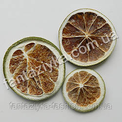 Сушеные дольки апельсина зеленые, 3 штуки