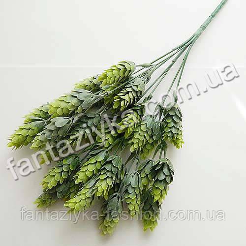 Искусственный куст хмеля пластиковый зеленый