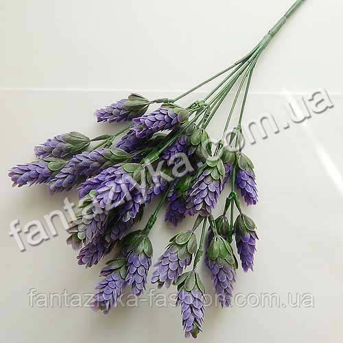 Искусственный куст хмеля 7-ка пластиковый фиолетовый