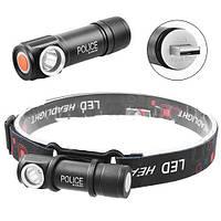 Налобный фонарь Police BL-2155-XPE, магнит