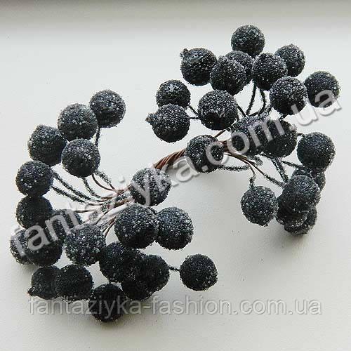 Сахарная калина 12мм черная, в пучке 40 ягод