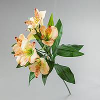Искусственный цветок альстромерия персиковая.