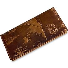 """Бумажник мужской кожаный универсальный Crystal Amber """"7 чудес света"""". Цвет янтарный"""