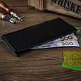 Черный Кожаный Бумажник Crystal Panther, фото 6