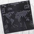 """Бумажник мужской кожаный универсальный Shabby Ink """"7 чудес света"""". Цвет синий, фото 4"""