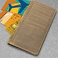 """Бумажник мужской кожаный универсальный Shabby Light """"7 чудес света"""". Цвет оливковый, фото 4"""