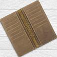 """Бумажник мужской кожаный универсальный Shabby Light """"7 чудес света"""". Цвет оливковый, фото 5"""