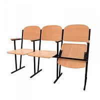 Фанерные секционные кресла для актового зала WOODEN