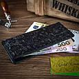 """Черный Кожаный Бумажник Hi Art WP-02 Crystal Panther """"Let's Go Travel"""", фото 6"""