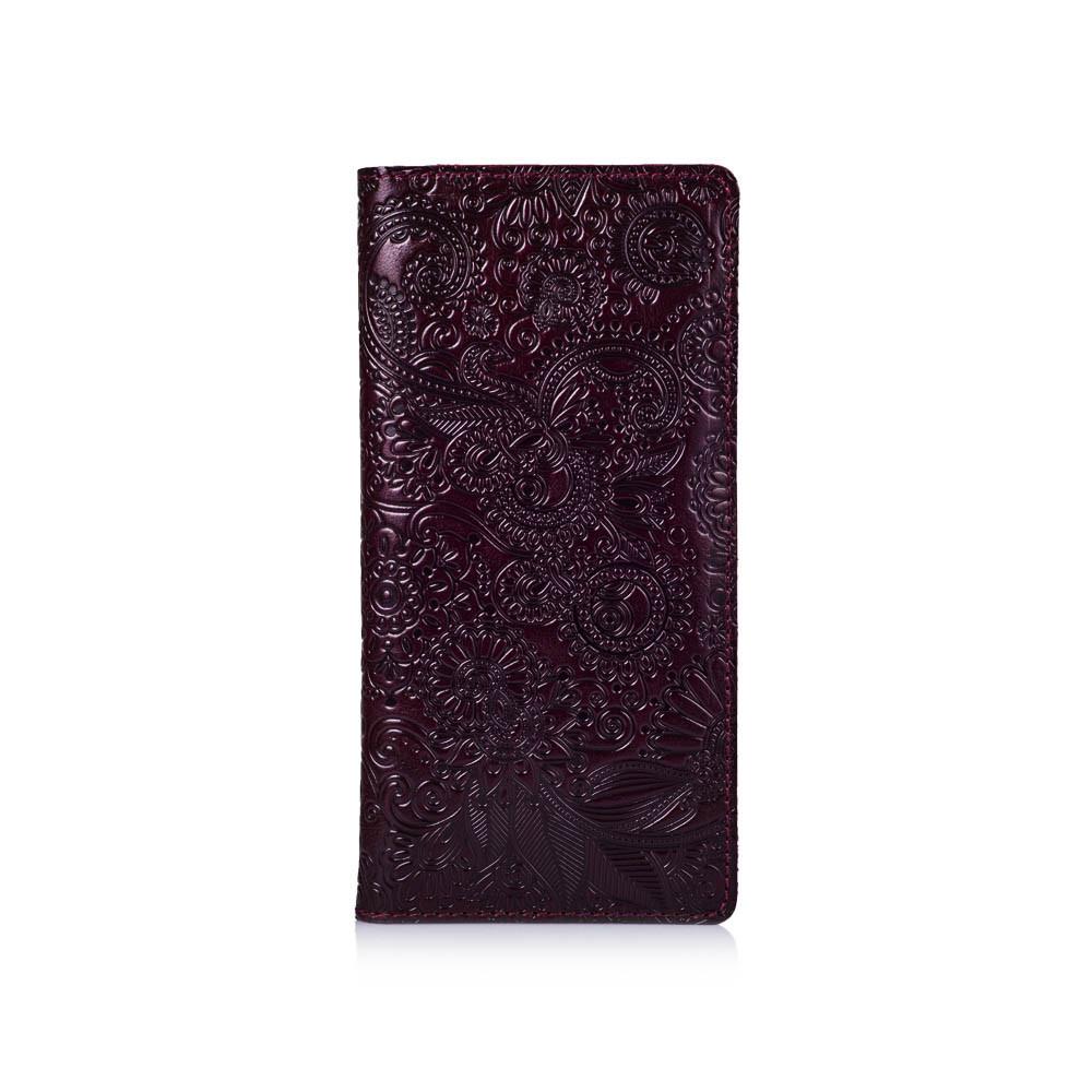 """Темно фиолетовый Кожаный Бумажник Crystal Sangria """"Mehendi Art"""""""
