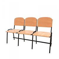 Антивандальные секционные стулья для актового зала WOODEN LIGHT