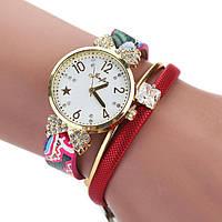 Часы браслет «Алая роза утонченности», женские наручные кварцевые часы, купить