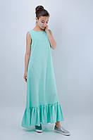 Красивое длинное платье с оборками