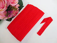 Бейка-резинка ажурная для повязок, красный, 23 мм, фото 1