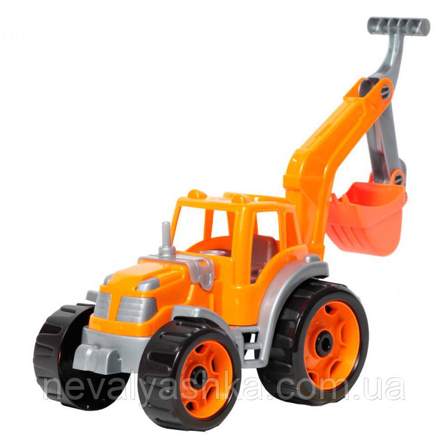Трактор пластиковый с ковшом машинка пластмассовая машина ТехноК, 3435, 004686