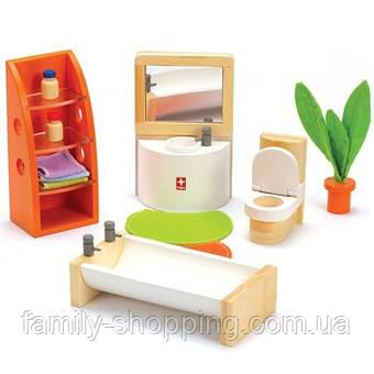 """Деревянная игрушка набор мебели из бамбука """"Trendy Bathroom"""""""